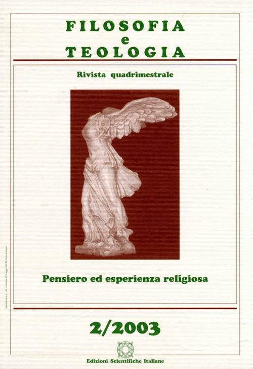 filosofia e teologia. Pensiero ed esperienza religiosa 2/03